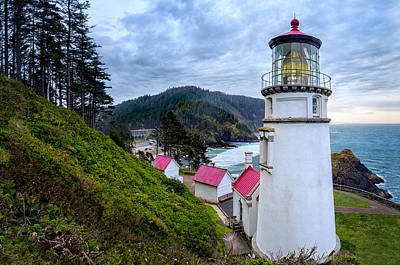 Photograph - Heceta Head Light by Dave Koch