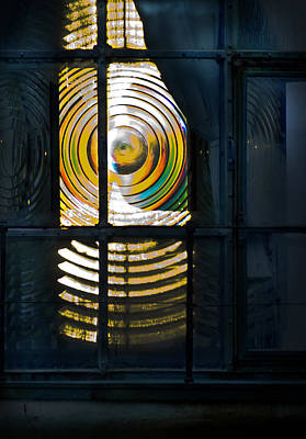 Photograph - Heceta Head Lighthouse Lens  by Yulia Kazansky