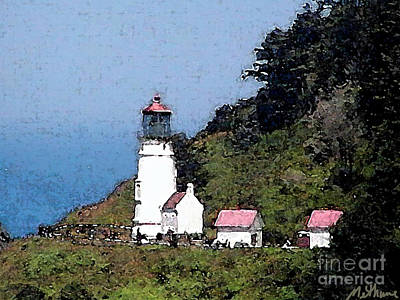 Painting - Heceta Head Lighthouse by Methune Hively