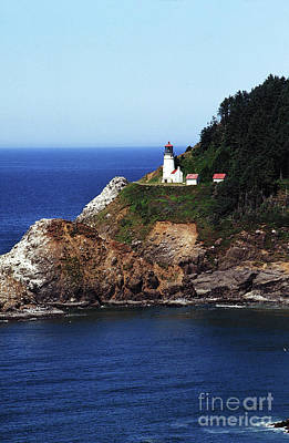 Photograph - Heceta Head Lighthouse, Oregon Coast 1989 by California Views Mr Pat Hathaway Archives