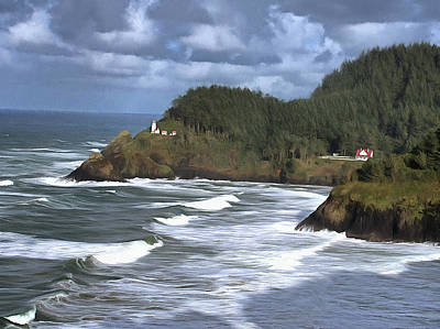 Photograph - Heceta Head Lighthouse by Thom Zehrfeld