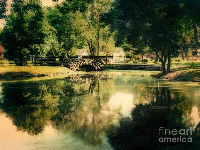 Heckscher Park Pond, Huntington Ny Art Print