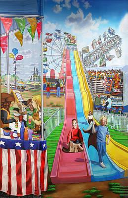 Hecksher Park Fair Art Print by Bonnie Siracusa