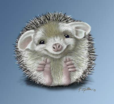 Digital Art - Hedgehog by Kathie Miller