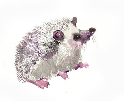 Animal Lover Drawing - Hedgehog by Suren Nersisyan