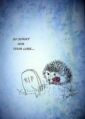 Drawing - Hedgehog Sympathy by Denise Fulmer