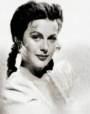 Hedy Lamarr Painting - Hedy Lamarr, Actress By Js by John Springfield