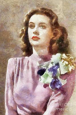 Hedy Lamarr Painting - Hedy Lamarr By Sarah Kirk by Sarah Kirk