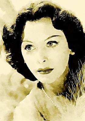 Hedy Lamarr Hollywood Star Art Print