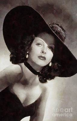 Hedy Lamarr Painting - Hedy Lamarr, Vintage Actress by Sarah Kirk