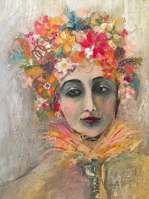 Mixed Media - Hedy Lamore by Janet Visser