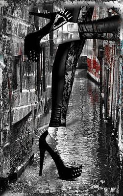 Digital Art - Heels In Venice by Greg Sharpe