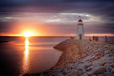 Photograph - Hefner Sunset II by Ricky Barnard