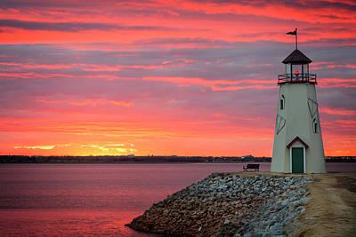 Photograph - Hefner Sunset V by Ricky Barnard
