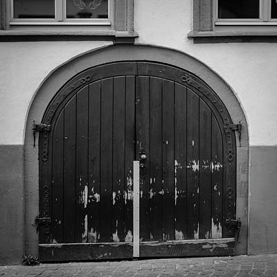 Photograph - Heidelberg Cellar Door B W by Teresa Mucha