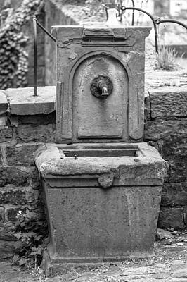Stone Trough Photograph - Heidelberg Fountain by Teresa Mucha