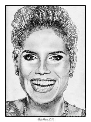 Drawing - Heidi Klum In 2010 by J McCombie