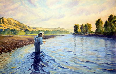 Painting - Heidi On The Yellowstone by Todd Derr