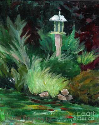 Painting - Heidi's Bird Feeder by Claire Gagnon