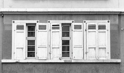 Photograph - Heidleberg Shutters B W by Teresa Mucha