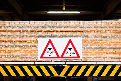 Height Warning Art Print by Tom Gowanlock