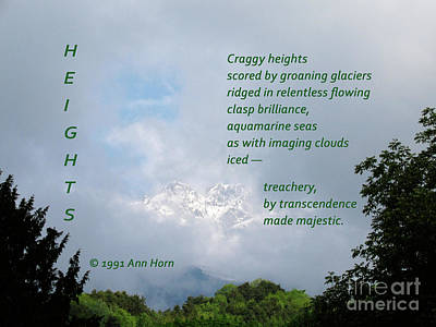 Photograph - Heights by Ann Horn