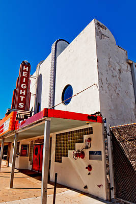 Photograph - Heights Movie Theater by Linda Unger