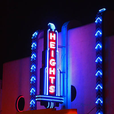 Photograph - Heights Theater by Cheri Randolph