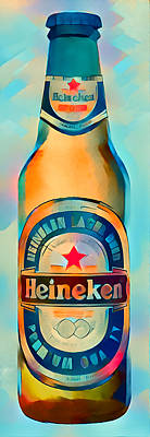 Digital Art - Heineken Blue by Yury Malkov