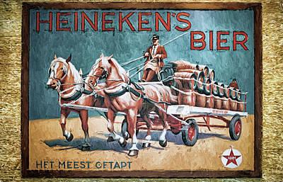 Bier Photograph - Heineken's Beer The Most Tapped by Joan Carroll