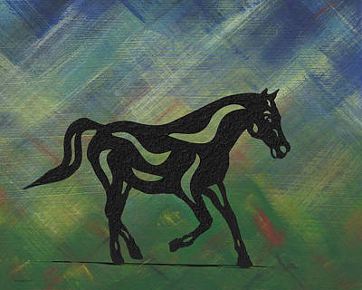Horse Art Painting - Heinrich - Abstract Horse by Manuel Sueess