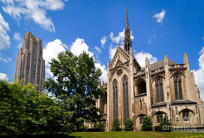 Heinz Memorial Chapel And Cathedral Of Learning Art Print by Amy Cicconi