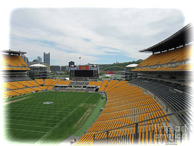 Photograph - Heinz Stadium With Pittsburgh Skyline by Roberta Byram