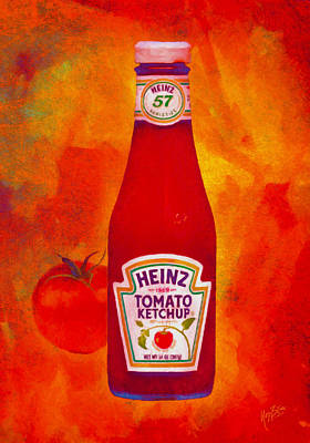 Heinz Tomato Ketchup Art Print by Nop Briex