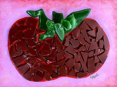 Tomato Mixed Media - Heirloom  by Carol Neal