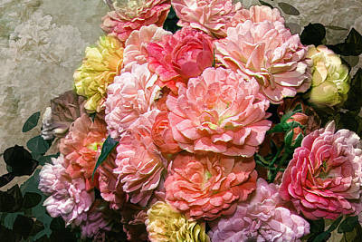 Photograph - Heirloom Roses by Mary Almond