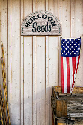 Photograph - Heirloom Seeds And Flag by Phil Cardamone