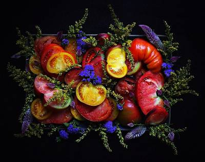 Heirloom Tomato Platter Art Print