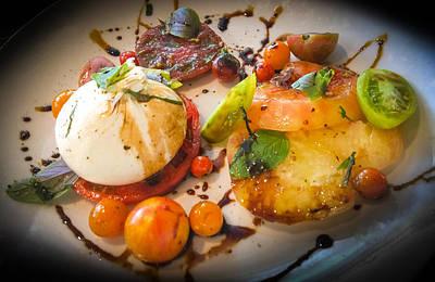 Salad Oil Photograph - Heirloom Tomato Salad by Karen Wiles