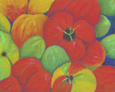 Pastel - Heirloom Tomatoes by Anne Katzeff