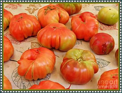Photograph - Heirloom Tomatoes by Sarah Loft