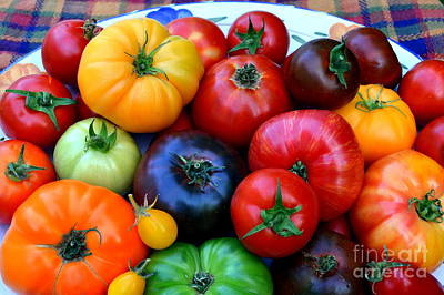 Photograph - Heirloom Tomatoes by Vivian Krug