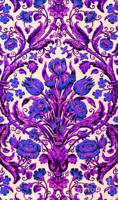 Digital Art - Heirloom Violet And Lavender  Continental Floral by Peter Gumaer Ogden