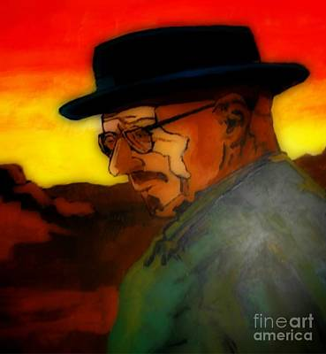 Crystal Meth Painting - Heisenberg Crystallized by John Malone