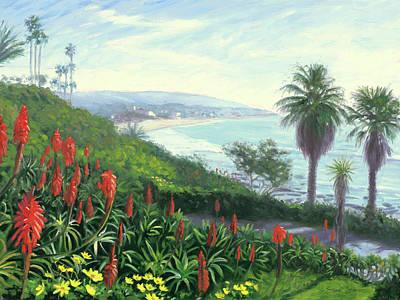 Painting - Heisler Park Near Las Brisas by Steve Simon