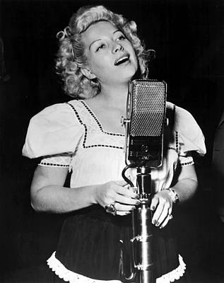 1940s Candid Photograph - Helen Forrest Singing For The G.i.s by Everett