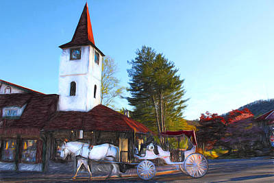 Photograph - Horse And Carriage - Helen Georgia by Carlos Diaz