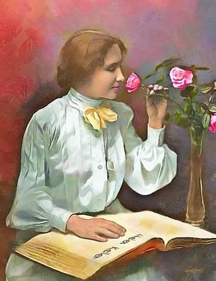 Painting - Helen Keller - 2 by Wayne Pascall