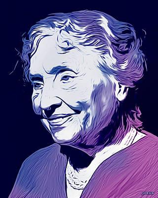 Drawings - Helen Keller by Greg Joens