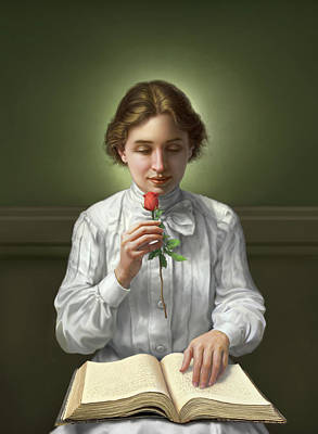 Helen Keller Art Print